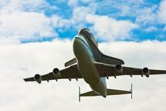 航天飞机发现跨线桥在华盛顿特区,区 免版税图库摄影