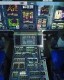 航天飞机独立的驾驶舱 库存照片