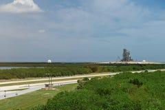 航天飞机的发射台 库存照片