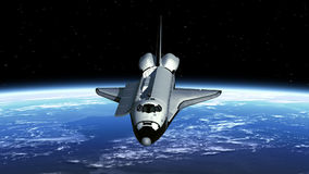 航天飞机酬载海湾门打开 库存例证