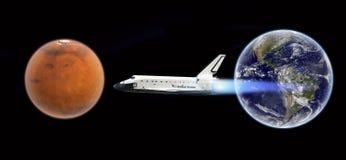 航天飞机飞行对毁损-美国航空航天局装备的这个图象的元素 图库摄影