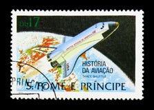 航天飞机,航空serie的历史,大约1979年 免版税库存照片
