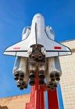 航天飞机Buran的小拷贝在晴天 免版税库存图片