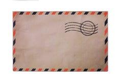航寄背景信包脏的纸葡萄酒 库存照片