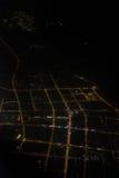 航拍在晚上 免版税库存图片