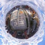航拍是一个现代都市城市 库存图片