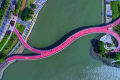 航拍-彩虹桥 库存图片
