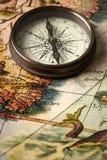 航海图葡萄酒 库存照片
