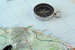 航海图 免版税图库摄影
