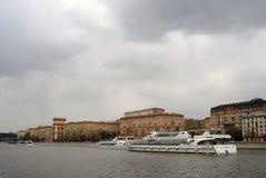 航海季节开头在莫斯科 图库摄影
