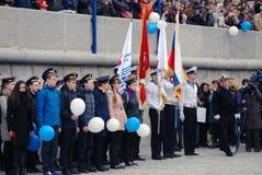航海季节开头在莫斯科 免版税库存图片
