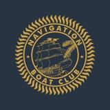航海小船俱乐部 库存照片