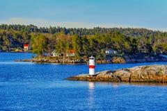 航海标记在斯德哥尔摩群岛 库存图片