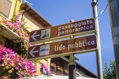 航海路标在意大利 免版税库存图片
