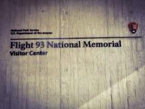 航班93全国纪念品 免版税图库摄影