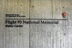 航班93纪念品标志 免版税图库摄影