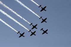 航班iii同步的小组 免版税库存照片