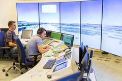 航空业务当局控制器 免版税库存照片