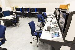航空业务当局controller& x27; s书桌 免版税库存照片