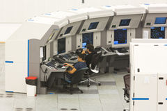 航空业务权威控制室 免版税库存图片