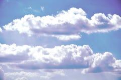 航空云彩 库存照片