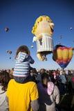 航空亚伯科基baloon节日新热的墨西哥 免版税图库摄影