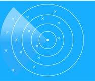 航空交通管制雷达显示器 免版税库存图片