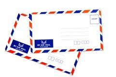 航空信包查出的邮件 图库摄影
