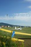 航空俱乐部领域和马达滑翔机在德国 图库摄影