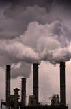 航空全球污染温暖 免版税库存图片