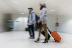 航空公司乘客在机场 图库摄影