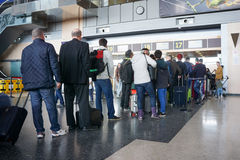 航空公司乘客在机场 库存照片