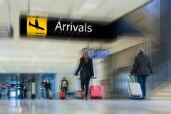 航空公司乘客 库存图片