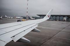 航空公司俄罗斯波音737-800的飞机 库存图片
