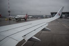 航空公司俄罗斯波音737-800的飞机 免版税图库摄影