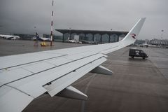 航空公司俄罗斯波音737-800的飞机 库存照片