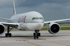航空公司卡塔尔 库存照片