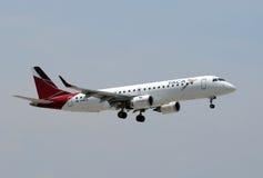 航空公司喷气机着陆乘客taca 库存照片