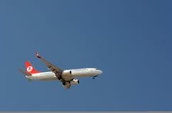 航空公司平面土耳其 免版税图库摄影