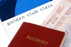 航空公司接近的票 库存照片