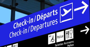 航空公司机场飞行门计划符号 免版税库存照片