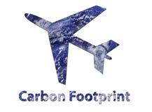航空公司碳脚印 免版税库存照片