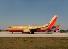 航空公司西南喷气机的乘客 图库摄影