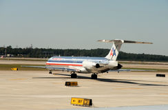 航空公司飞机美国人 免版税图库摄影