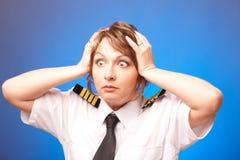 航空公司飞行员 库存照片