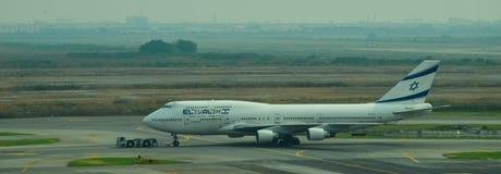 航空公司飞行在素万那普国际机场 库存图片