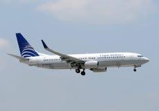 航空公司copa喷气机乘客 免版税库存照片
