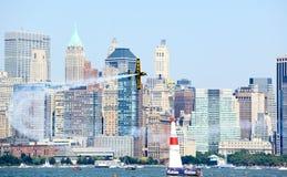 航空公牛港口新的种族红色约克 库存照片