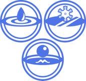 航空冰符号水 向量例证