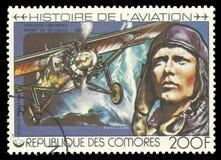 航空历史,查尔斯林贝尔 免版税库存照片
